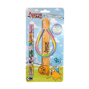Adventure Time Stationery Set with Large Bendy Eraser