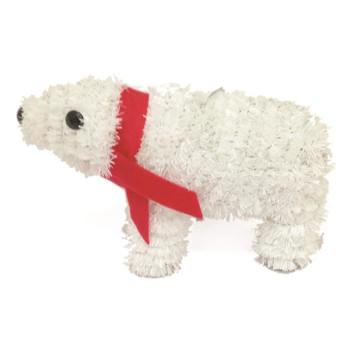 Christmas Tinsel Table Decoration Polar Bear