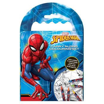 Spiderman Carry Along Colouring Set