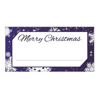 Pack of 50 Snowflake Design Table Place Cards Name Settings