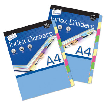 10 A4 Index Dividers Paper
