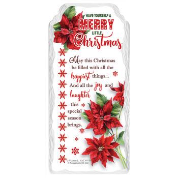 Merry Little Christmas Design Hanging Plaque