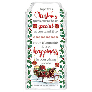 Special Christmas Sleigh Hanging Plaque