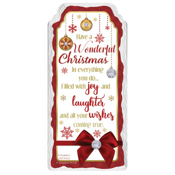 Have a Wonderful Christmas Design Hanging Plaque