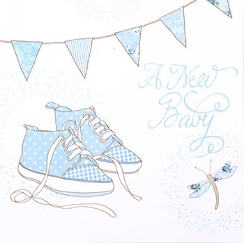 Simon Elvin new baby boy announcement cards - 6 cards with envelopes