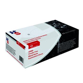 Box of 100 Speciality Black Nitrile Medium Gloves Powder Free