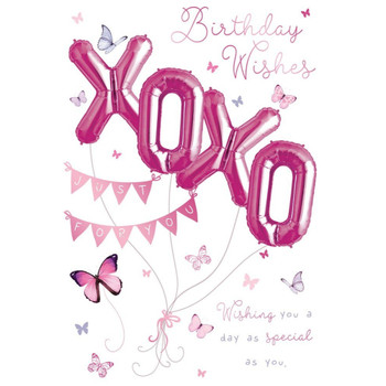Birthday Wishes Balloon Boutique Greeting Card