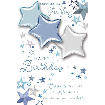 Especially for You Happy Birthday Balloon Boutique Greeting Card