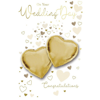 On Your Wedding Congratulations Balloon Boutique Greeting Card