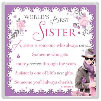 World's Best Sister Celebrity Style Magnet