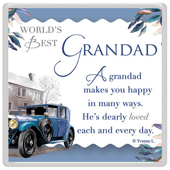 World's Best Grandad Celebrity Style Magnet