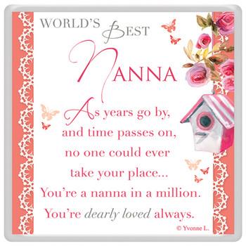 World's Best Nanna Celebrity Style Magnet