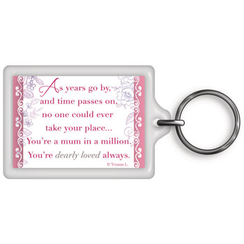A Mum In a Million Celebrity Style World's Best Keyring