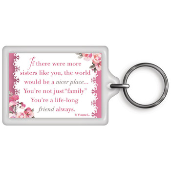 A Special Sister Celebrity Style World's Best Keyring