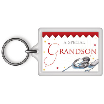 A Special Grandson Celebrity Style World's Best Keyring