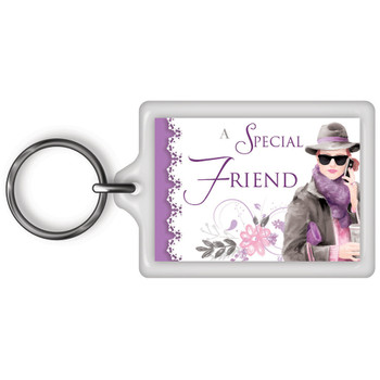 A Special Friend Celebrity Style World's Best Keyring