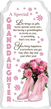 A Special Granddaughter Sentimental Handcrafted Ceramic Plaque
