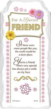 For a Special Friend Sentimental Handcrafted Ceramic Plaque