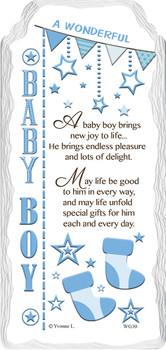 A Wonderful Baby Boy Sentimental Handcrafted Ceramic Plaque