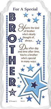For a Special Brother Sentimental Handcrafted Ceramic Plaque