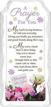 A Prayer And Blessing  For You Sentimental Handcrafted Ceramic Plaque