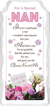 For a Special Nan with Love Sentimental Handcrafted Ceramic Plaque