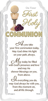 On Your First Communion Sentimental Handcrafted Ceramic Plaque