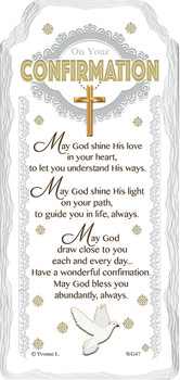 On Your Confirmation Sentimental Handcrafted Ceramic Plaque