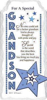 For a Special Grandson Star Design Sentimental Handcrafted Ceramic Plaque