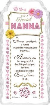 For a Special Nanna Sentimental Handcrafted Ceramic Plaque