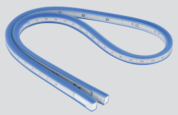 Measuring Flexible Curve in Hanging Pack