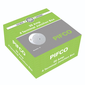 20Amp 4 Terminal White Junction Box by Pifco