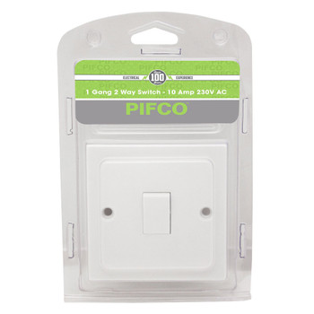 1 Gang 2 Way Wall Switch - 10Amp 230V A.C by Pifco