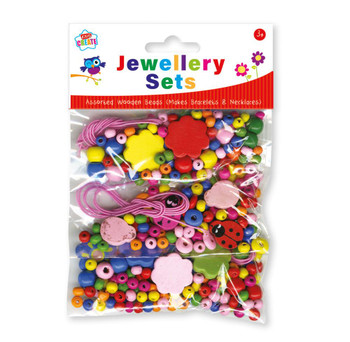 Pack of Mixed Jewellery Wooden Beads