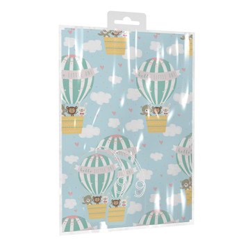 New Baby Boy Gift Wrapping Paper With Tags
