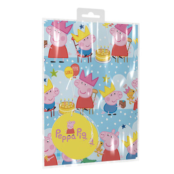 Peppa Pig Gift Wrapping Paper With Tags