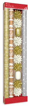 Composite Gold and Cream Christmas Gift Wrapping Set