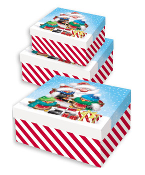 Pack of 3 Assorted Christmas Cute Design Nested Boxes