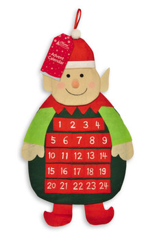 Christmas Elf Advent Calendar With Pockets