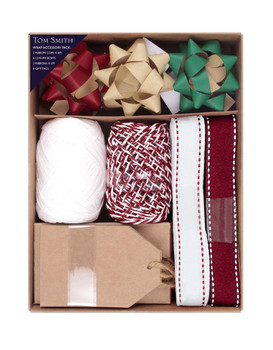 Pack of Kraft Design Christmas Gift Wrapping Accessory Set