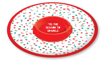 Contemporary Design Chip N Dip Christmas Party Melamine Tray