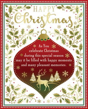 Box of 24 Classic Design Luxury Portrait Christmas Cards With Envelopes