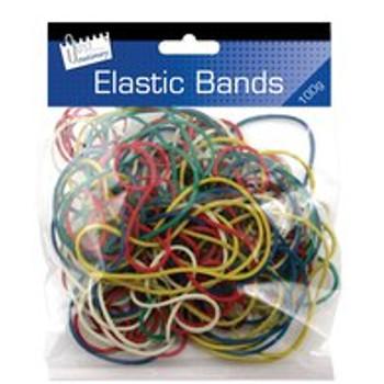 100g Assorted Coloured Elastic Bands