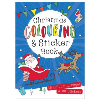 Christmas A3 Size Large Colouring And Sticker Book