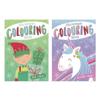 Christmas Colouring Book with Foil and Glitter Pages
