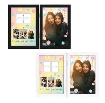 """Twin 6x4"""" And 3 Photo Print Inserts Photo Frame"""