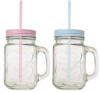 Baby Shower Party Masons Glass With Lid