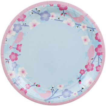 """Pack of 8 Blossom Design 9"""" Party Plates"""
