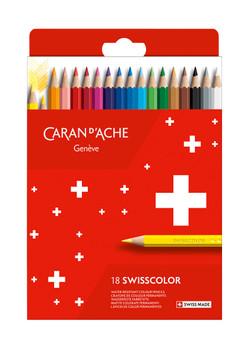 Box of 18 Swisscolor Permanent Colours Pencils in Cardboard Box