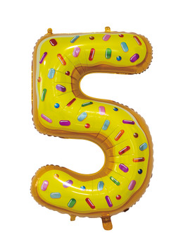 Giant Foil Young Editions Design 5 Number Balloon